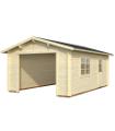 Garaje de madera ROGER 19,0 m2 sin puerta