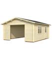 Garaje de madera ROGER 23,9 m2 sin puerta