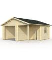 Garaje de madera ROGER 21,9+5,2 m2 sin puerta