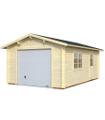 Garaje de madera ROGER 19,0 m2 con puerta seccional