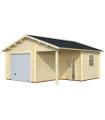 Garaje de madera ROGER 21,9+5,2 m2 con puerta seccional