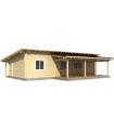 Casa Vivienda de madera SOLVEIG 64,8 m2, pared 88 mm