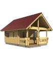 Casa Vivienda de madera JOHANNA 39 m2, pared 70 mm