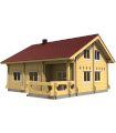 Casa Vivienda de madera OLIVIA 96,2 m2, pared 134 mm