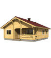 Casa Vivienda de madera REGINA 69,4 m2 pared 88 mm