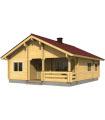Casa Vivienda de madera REGINA 69,4 m2 pared 134 mm