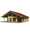 Casa Madera GERDA 123,5 m2 134 mm