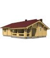 Casa Vivienda de madera BRITTA 84,5 m2, pared 134 mm