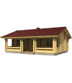 Casa Vivienda de madera ELLY 46 m2, 114 mm
