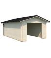 Garaje de madera TOMAS 19,2 m2 sin puerta