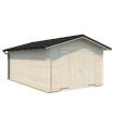 Garaje de madera TOMAS 19,2 m2 con portón abatible