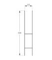 Soporte galvanizado en 'H' 9x9 cm