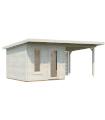 NEW 2020 Caseta de madera GRACE 8,1+8,1 m2