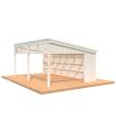 NEW 2020 Cenador de madera NOVA 21,5 m2 KIT