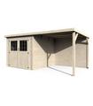 Caseta de madera PARADIS 5,1 + 7,1 m2