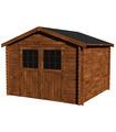 Caseta de madera tratada FLORA 7,4 m2