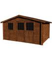 Caseta de madera tratada VALLAURIS TM 13,8 m2